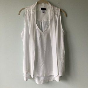 ANOTHER STORY Sleeveless white top SMALL